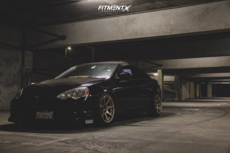 2002 Acura RSX - 17x9.5 25mm - MB Battles - Coilovers - 225/45R17