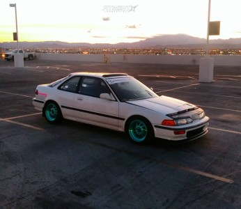 1992 Acura Integra - 15x8 25mm - F1R F07 - Lowering Springs - 205/50R15