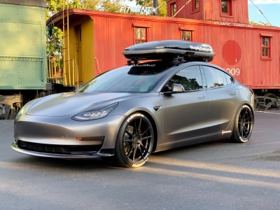 2018 Tesla 3 - 20x9 35mm - Rohana Rf2 - Lowering Springs - 245/35R20