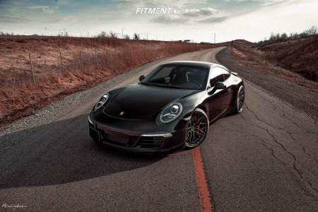 2015 Porsche 911 - 20x8.5 40mm - Brixton Forged Cm10 - Stock Suspension - 245/35R20