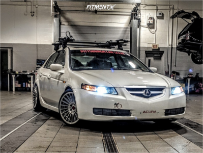 2005 Acura TL - 18x9.5 35mm - Rotiform Ind-t - Coilovers - 235/45R18