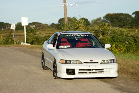1998 Acura Integra - 15x8 30mm - Gram Lights 57DR - Coilovers - 195/55R15