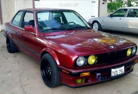 1990 BMW 325i - 15x8 0mm - JNC Jnc003 - Lowering Springs - 185/50R15