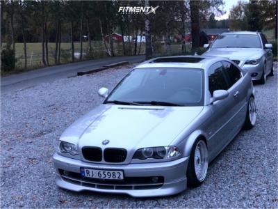 2001 BMW 325Ci - 17x9 20mm - GS Retro - Coilovers - 205/40R17
