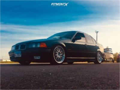1996 BMW 328i - 17x8 30mm - Beyern Mesh - Coilovers - 205/40R17