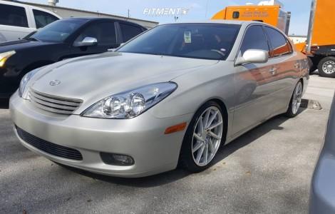 2004 Lexus ES330 - 18x8.5 45mm - F1R F29 - Coilovers - 215/40R18