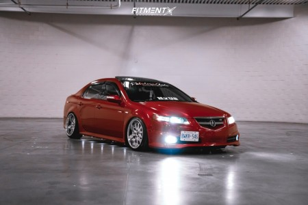 2007 Acura TL - 18x9 25mm - Weds Kranze Geena - Coilovers - 205/40R18