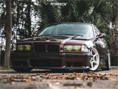 1996 BMW 328is - 17x8.5 40mm - Kosei K1 - Coilovers - 205/40R17