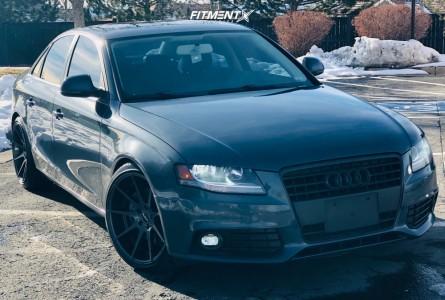 2009 Audi A4 Quattro - 19x9.5 40mm - Alzor 509 - Lowering Springs - 245/35R19