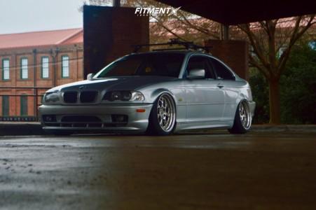 2002 BMW 325Ci - 18x9.5 25mm - Aodhan Ds01 - Air Suspension - 215/40R18