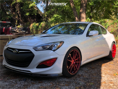 2014 Hyundai Genesis Coupe - 20x9 25mm - Rohana Rf2 - Air Suspension - 245/35R20