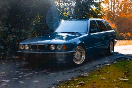 1994 BMW 530i - 17x8 20mm - BBS Style 5 - Coilovers - 225/35R17
