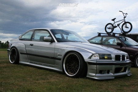 1996 BMW 3 Series - 18x10.5 -5mm - 326 Power Yabaking Mesh - Coilovers - 245/35R18