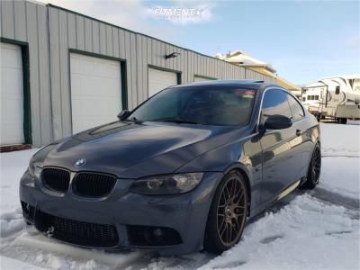 2008 BMW 335xi - 19x8.5 33mm - VMR V703 - Coilovers - 235/35R19