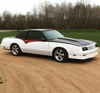 1987 Chevrolet Monte Carlo - 18x9 24mm - American Racing Torq Thrust M - Lowering Springs - 255/45R18