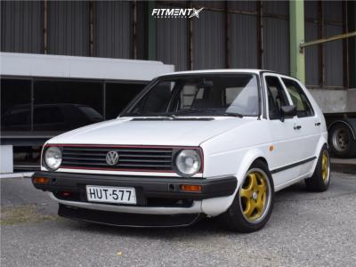 1986 Volkswagen Golf - 15x7 35mm - Mim 5 Spoke - Coilovers - 195/50R15