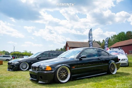 2001 BMW 330Ci - 19x9.5 35mm - Work VS XX - Air Suspension - 245/30R19