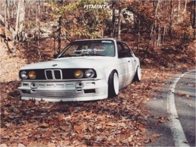 1987 BMW 325e - 15x8 0mm - F1R F05 - Coilovers - 195/40R15