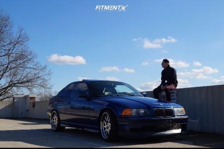 1998 BMW 323is - 18x8.5 30mm - ESR Sr09 - Coilovers - 215/40R18