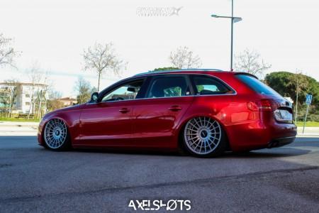 2008 Audi A4 - 20x10 35mm - Rotiform Las-r - Air Suspension - 255/30R20