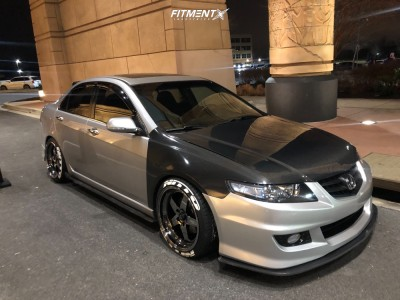 2005 Acura TSX - 18x9 25mm - Cosmis Racing Xt-005r - Coilovers - 225/40R18
