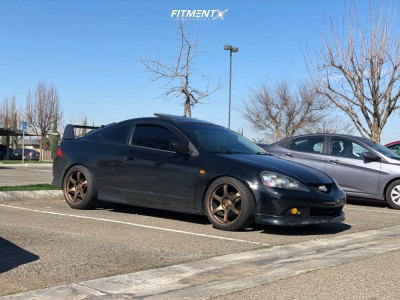 2005 Acura RSX - 18x9.5 22mm - Rays Engineering 57DR - Coilovers - 225/40R18