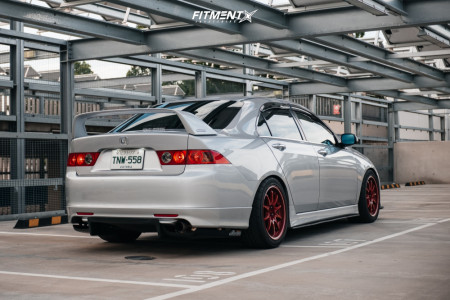 2005 Acura TSX - 17x9.5 45mm - Volk CE28RT - Coilovers - 255/40R17