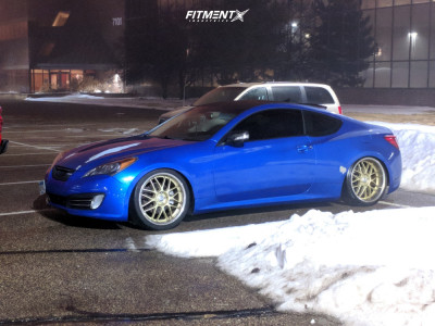 2010 Hyundai Genesis Coupe - 20x9 13mm - XXR 526 - Coilovers - 255/35R20