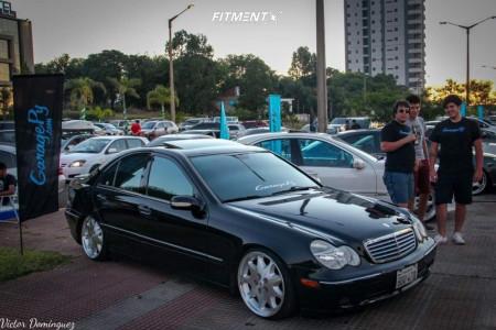 2003 Mercedes-Benz C230 - 18x8.5 35mm - Startech By Brabus Monoblock 3 - Air Suspension - 215/35R18