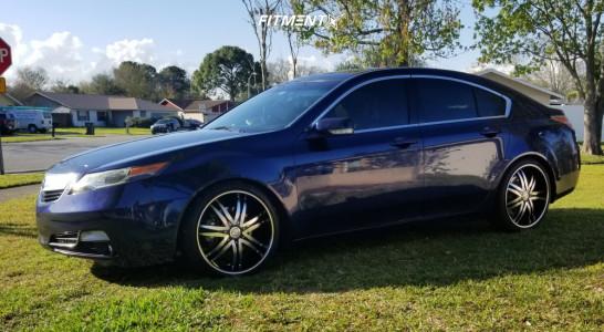 2013 Acura TL - 20x8.5 35mm - Borghini B14-m - Lowering Springs - 225/35R20