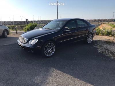 2001 Mercedes-Benz C240 - 18x8 32mm - Breyton Fascinate - Lowering Springs - 245/40R18