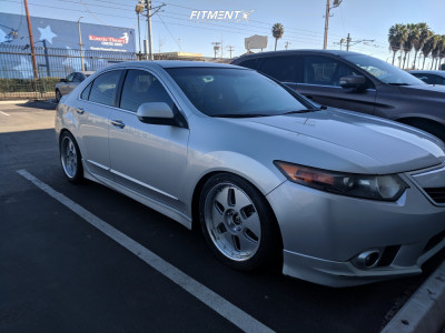2012 Acura TSX - 18x8.5 42mm - MAE Crown Jewel - Coilovers - 245/40R18