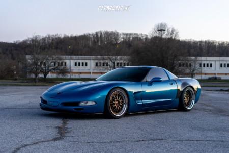 1999 Chevrolet Corvette - 19x10 42mm - Work VS XX - Coilovers - 275/30R19