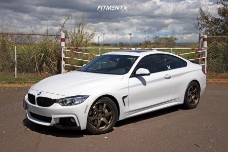 2017 BMW 440i - 18x8.5 36mm - Volk Te37 - Stock Suspension - 235/45R18