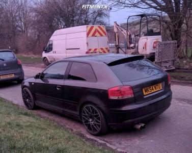 2004 Audi A3 - 19x8.5 35mm - Rotiform Blq - Lowering Springs - 225/35R19
