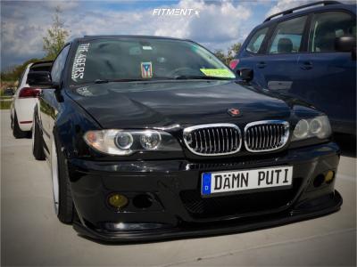 2004 BMW 330Ci - 18x9.5 22mm - Enkei RPF1 - Coilovers - 215/35R18
