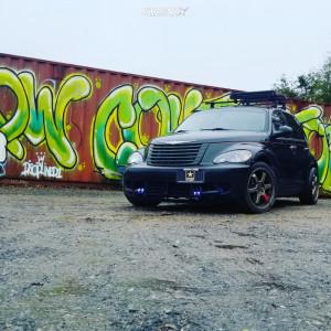 2009 Chrysler PT Cruiser - 18x8 40mm - Drifz Hole Shot - Lowering Springs - 215/45R18