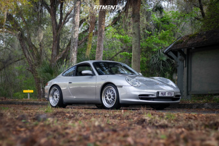 2002 Porsche 911 - 18x8.5 45mm - ESM 004m - Lowering Springs - 205/40R18