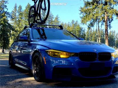 2013 BMW 328i xDrive - 18x8.5 35mm - JNC Jnc033 - Lowering Springs - 255/35R18