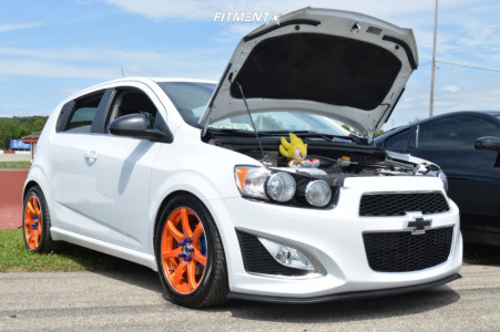 2013 Chevrolet Sonic - 17x7.5 42mm - RTX Ink - Coilovers - 215/50R17