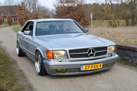 1986 Mercedes-Benz 560SEC - 18x9 10mm - Ronal Brabus Monoblock 3 - Lowering Springs - 205/40R18