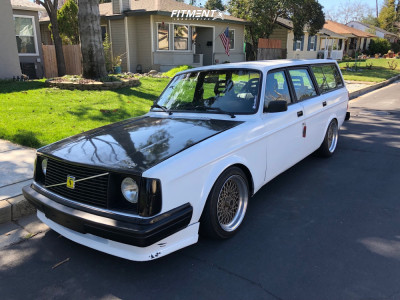 1985 Volvo 245 - 16x10 50mm - Riken Mesh - Coilovers - 225/45R16