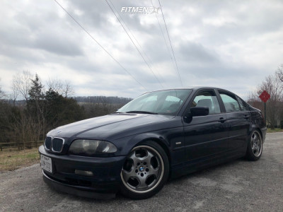 1999 BMW 323i - 17x7.5 25mm - BMW Style 23 (M Contour) - Coilovers - 225/45R17