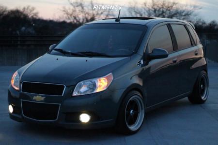 2011 Chevrolet Aveo5 - 16x8.5 0mm - XXR 501 - Lowering Springs - 195/45R16