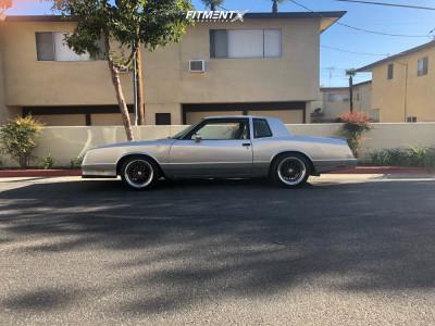 1985 Chevrolet Monte Carlo - 18x9.5 35mm - ESR Sr01 - Lowering Springs - 245/45R18