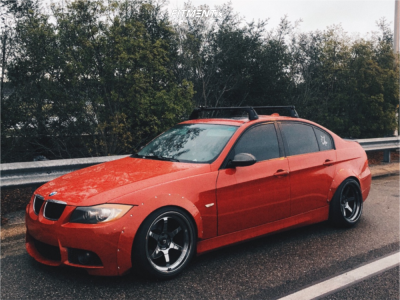 2008 BMW 3 Series - 18x9.5 10mm - Cosmis Racing XT-006R - Coilovers - 245/35R18