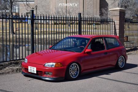 1992 Honda Civic - 15x7 15mm - Work Emotion - Air Suspension - 175/50R15