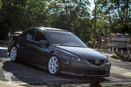 2003 Mazda 6 - 18x8.5 38mm - Work Emotion T7r - Lowering Springs - 225/40R18