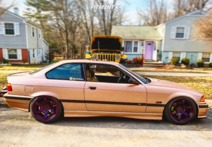 1996 BMW 328is - 18x9.5 22mm - Volk Te37 - Coilovers - 235/40R18