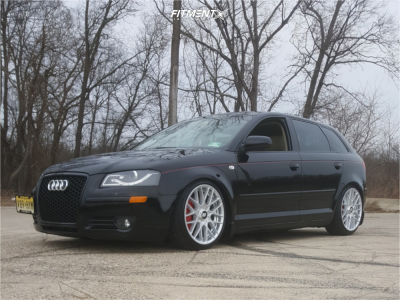 2007 Audi A3 - 18x8.5 40mm - Rotiform Rse - Coilovers - 215/40R18